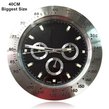 40CM 15.8 Inches Big Size Wall Clocks Luxury Style Brand New Sweep Second Hand Silent Wall Watches 3D Digit Bezel