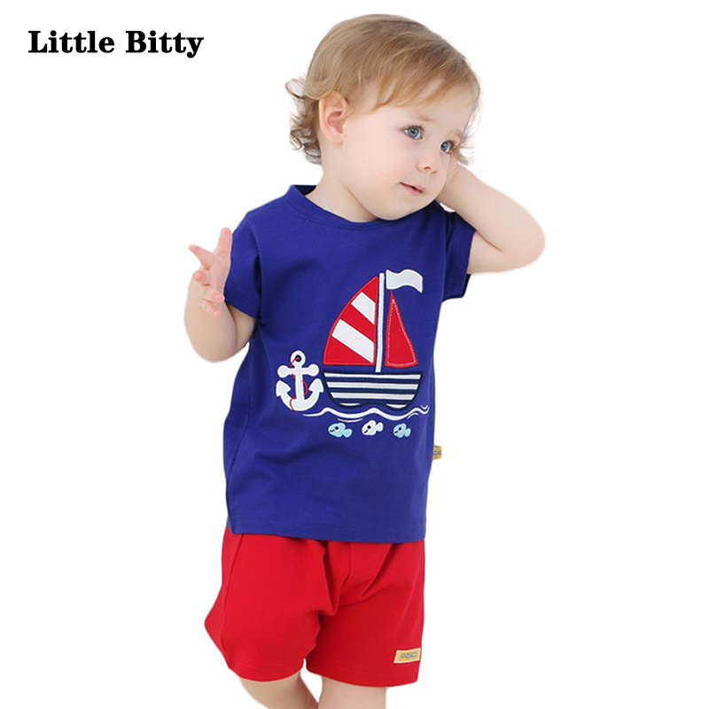 Baby Boy Clothes Newborn 2018 Boys Suits For Summer Blue Short Sleeves T-shirt Pants Two Piece Sets Boys Clothes Kids summer kids clothes sets 2pcs short sleeve boy t shirt pants suit clothing set newborn sport suits children baby boy clothes