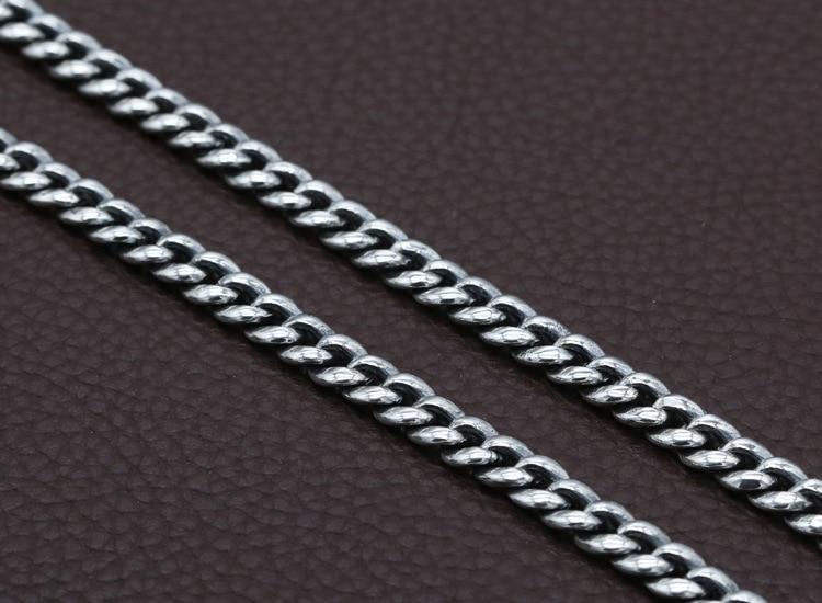 7mm 100% 925 Silber Tibetischen Sechs Worte Sprichwort Halskette Sterling Buddhistischen OM Mantra Vajra Halskette Tibetischen Dorje Symbol Halskette-in Kette Halsketten aus Schmuck und Accessoires bei  Gruppe 3