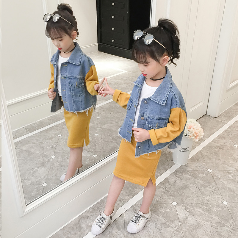 JMFFY Children Clothing Sets Outfit Costume For Kids Suit 2019 Spring Toddler Girls Clothes Tracksuits For Girls Clothing 4 15T