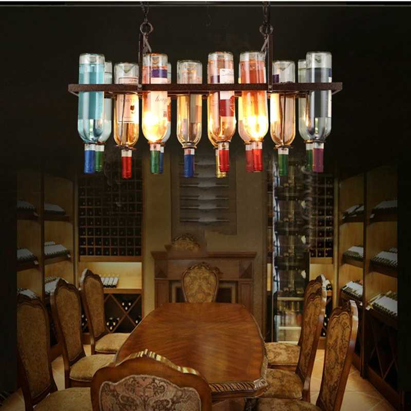 Lukloy Vine Bottles Pendant Lights Led