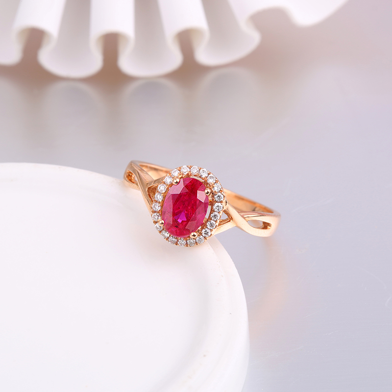 Robira luxurious ruby wedding ring for woman natural burma blood red robira luxurious ruby wedding ring for woman natural burma blood red ruby 18k rose gold ruby jewelry romantic gift for girl in rings from jewelry junglespirit Image collections
