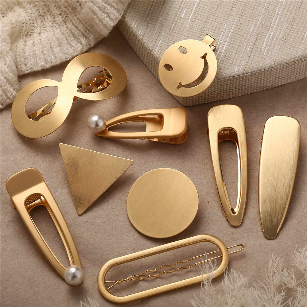 1 PC Gold Silver Color Hairpin 2019 For Women Girl Star Heart Infinite Hair Clips Hairwear Bridal New Fashion Jewelry hair