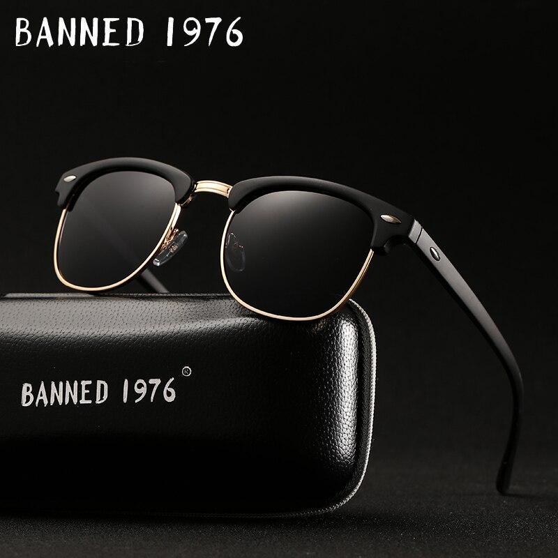 UV400 HD поляризованные мужчины женщины Солнцезащитные очки для женщин Классическая мода ретро клуб марка Защита от солнца очки покрытие Drive оттенки gafas-де-сол masculino