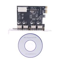 4 порта PCI-E для USB 3,0 концентратор PCI Express Expansion Card адаптер 5 Гбит/с скорость абсолютно новый