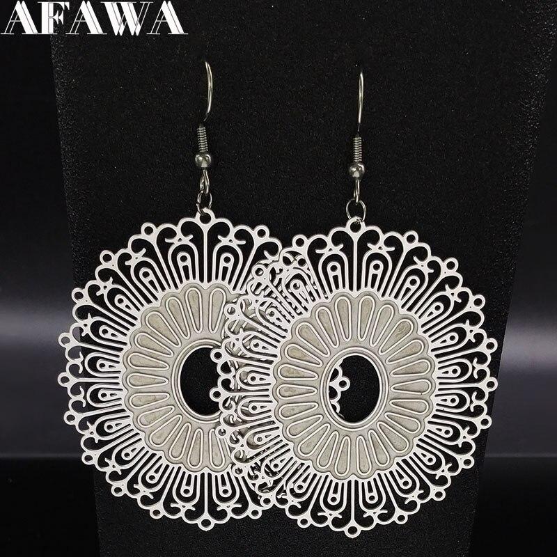 2020 Fashion Butterfly Stainless Steel Drop Earrings for Women Silver Color Earings Jewellery pendientes de plata E1606S01