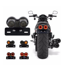 Motorcycle Turn Signal Brake Dual Motorbike LED Tail Light DC 12V Plastic Universal Durable
