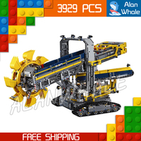 3929pcs Techinic Remote Controlled Bucket Wheel Excavator 20015 DIY Model Building Kit Blocks Gifts Toys Compatible