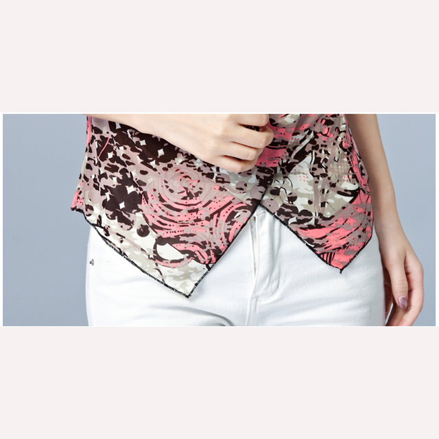 V-Neck Casual Blouses Short Sleeve Ladies Shirt