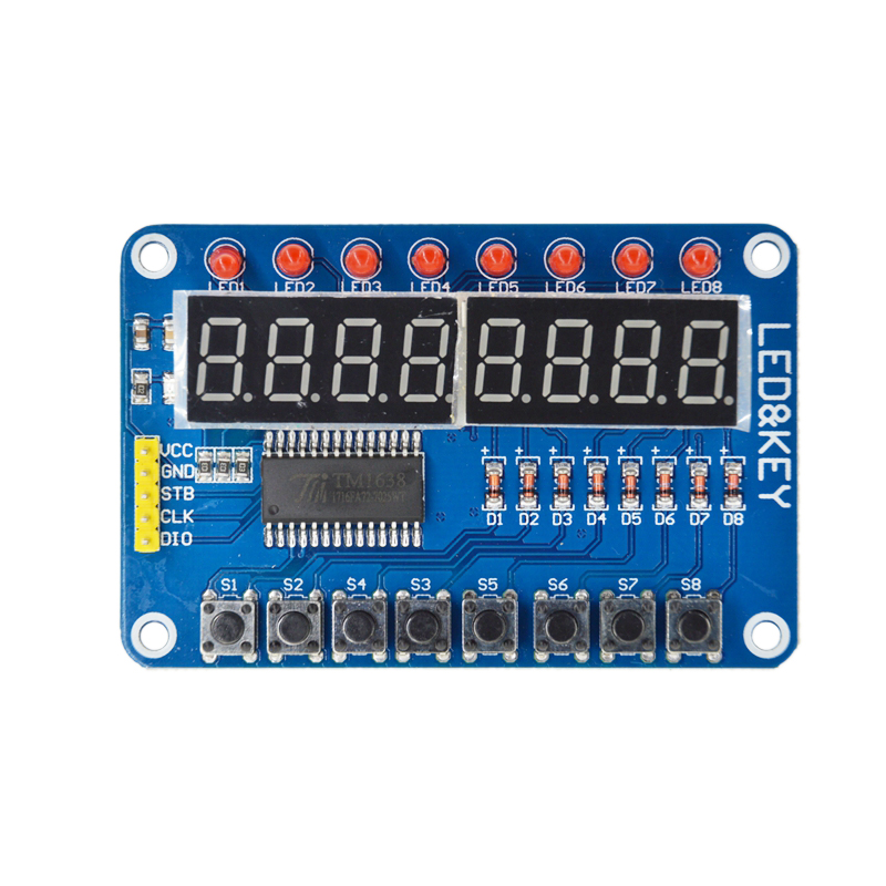 10PCS Smart Electronics 8-Bit Digital LED Tube 8-Bit TM1638 Key Display Module for arduino AVR Authentic High Quality