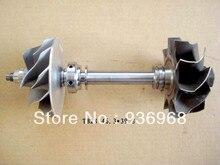 TB28 вал турбины и колеса 46.3*53 мм, Comp колеса 39.8*51.4 мм, частей турбокомпрессора ротора в сборке поставщик AAA Частей Турбокомпрессора