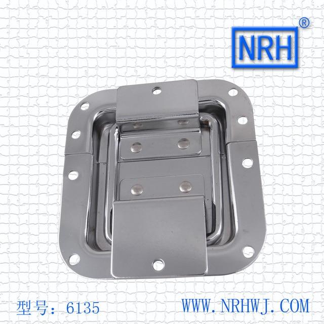 NRH 6135 steel Box bracket hinge for Seismic Audio cabinet chrome plating recessed bracket hinge for Flight Utility Trunk