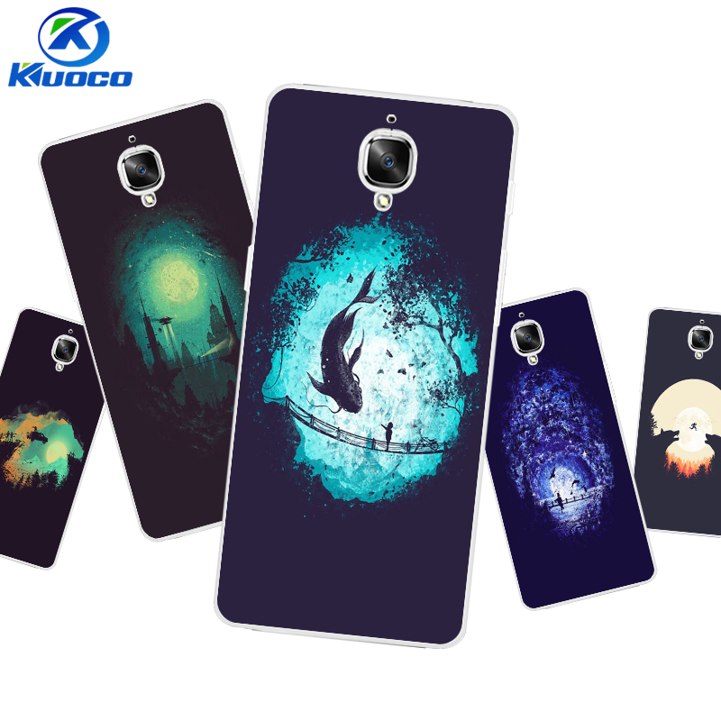 For OnePlus 3T Shell For One Plus 3 Case Personalise Customize 5.5 Inch For OnePlus 2 Coque Soft TPU Dark World Printing Coque