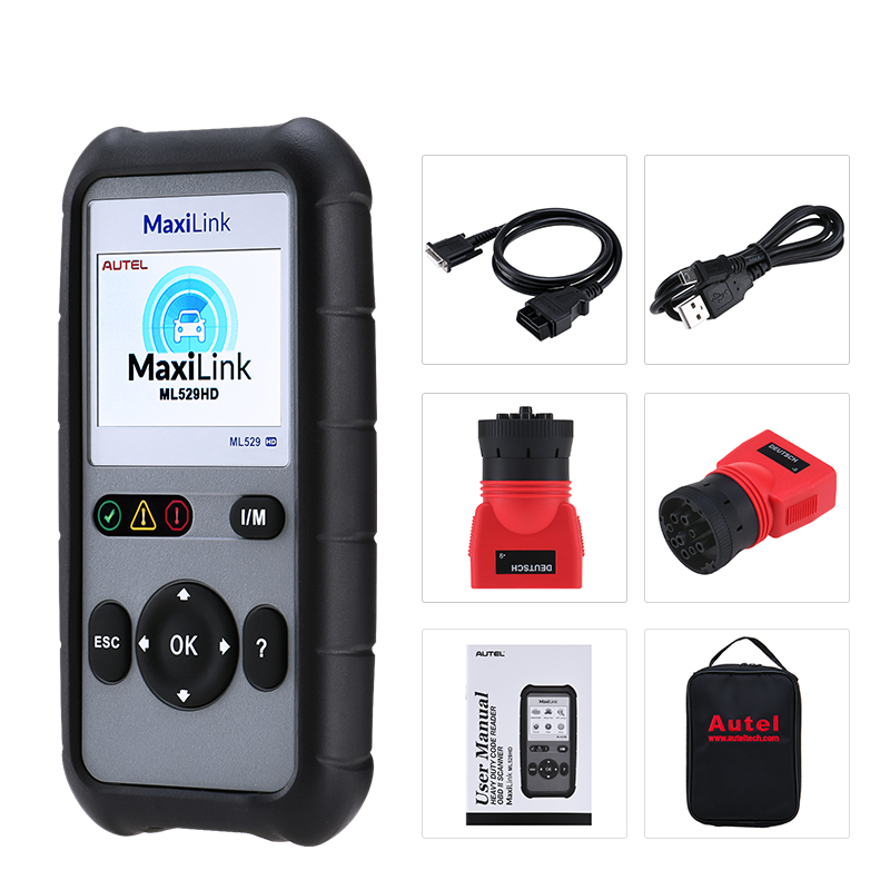 Image 5 - Autel MaxiLink ML529HD Scan Tool Enhanced Mode 6 OBD2 Auto Code Reader Heavy Duty Diagnostic Tool Utilizing SAE J1939 SAE J1708