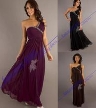 free shipping hl dress 2013 new design victorian hot seller cheap sexy Womans Long black custom Formal Bridesmaid dresses