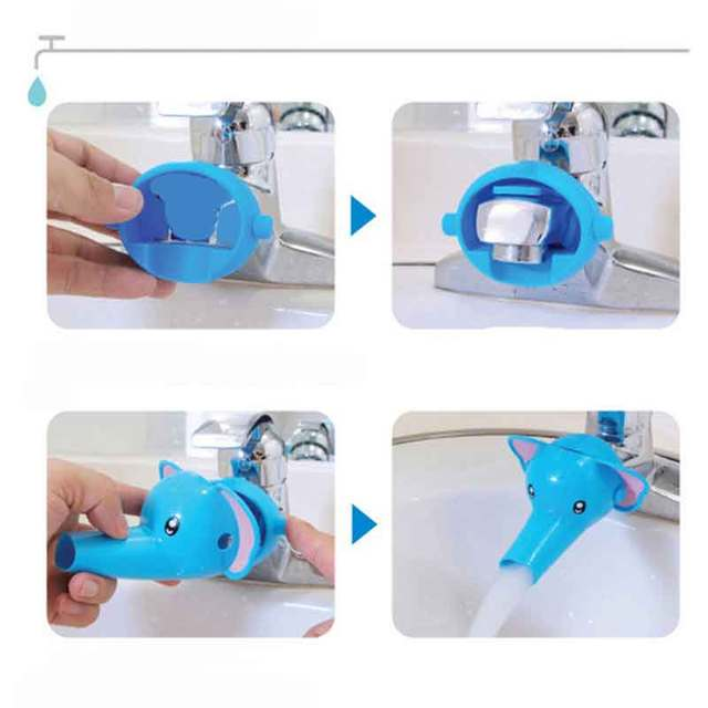 1pcs Lovely Cartoon Faucet Extender for Kid Children Kid Hand Washing In Bathroom Sink Accessories Hand Washing In Bathroom