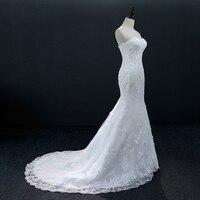 2018 Vintage Lace Mermaid Wedding Dress Vestido de Novia Beads Small Train Lace Bridal Gowns Robe mariee Sexy Wedding Dresses