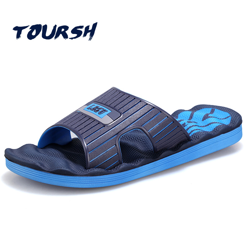 TOURSH Fashion Sandals Beach Casuals Slippers Mens Summer Sandals Men Sandalias Playa Hombre Sandales Homme Black Size8.5 9.5 10