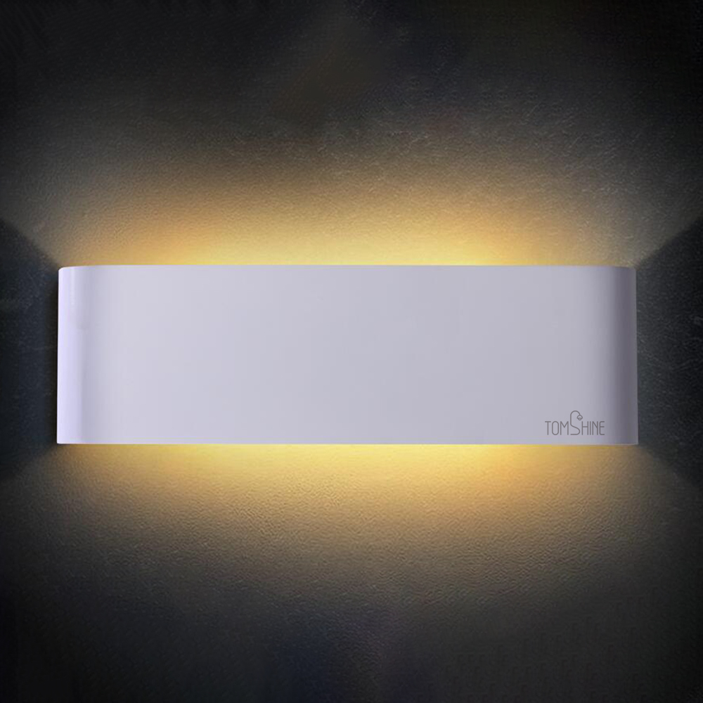 Professional Warm White AC85-265V 12W 24 LED Wall Lamp Up Down Indoor Hallway Lamp  for Corridor Bedroom Living Room Bathroom