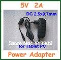 5 В 2A 2.5 мм tablet зарядное устройство для iWork8 3 Г Q8 Q88 Ainol мечта открыть Венера Видо N90 Quad Core N70HD N70 V88 M5
