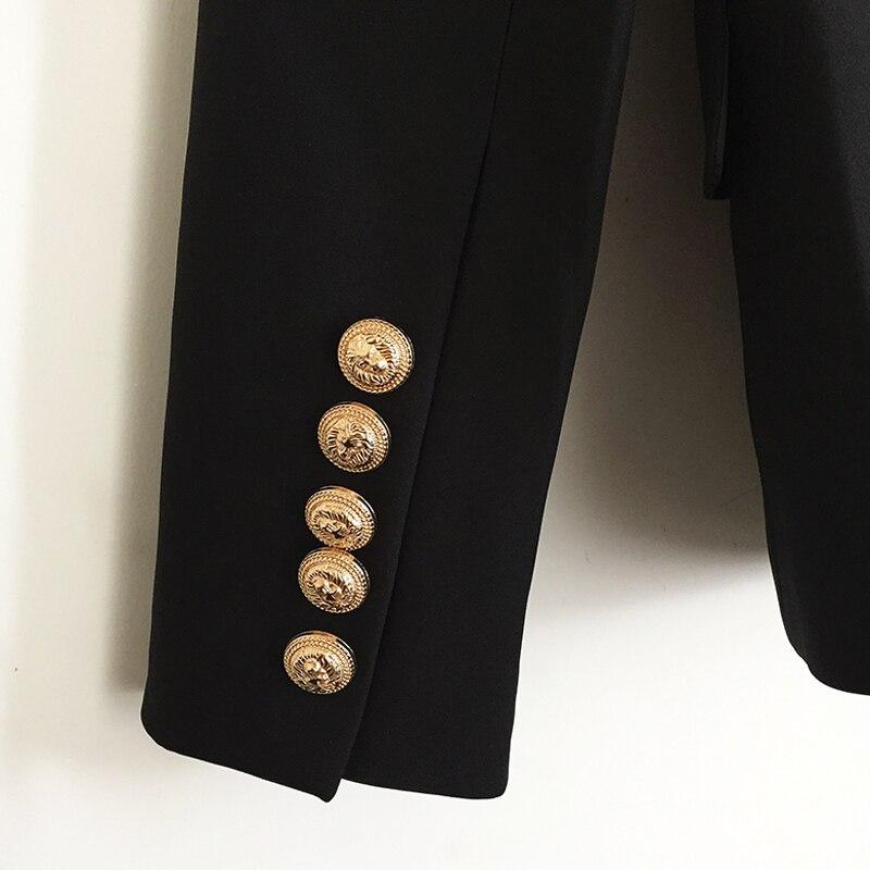 TOP QUALITÉ Nouvelle Mode 2018 Designer Blazer Veste de Femmes Double Boutonnage Métal Lion Boutons Blazer taille Extérieure S-XXXL - 6