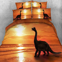 3D Dinosaur Bedding Sets Adult Sea Animal Duvet Cover Bed In A Bag Bedspread Twin Queen