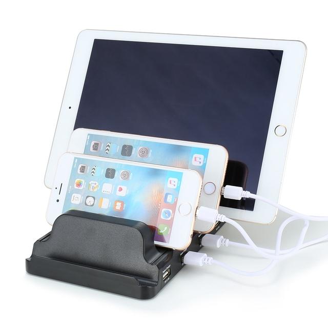Estação De Carregamento USB 4-Ports UE EUA UK Plug USB 2.4A carregador rápido bracket suporte rápido carregamento para vários android apple dispositivos