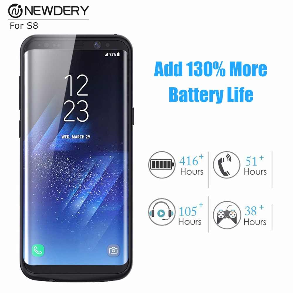Funda de carga de batería de gran venta para samsung s8 plus S8 + Note 8 9 funda de batería de respaldo para Galaxy s9 S9 + Nota 9