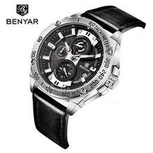 Original Casual Mens Watch Business Luxury Leather Strap Waterproof Date Analog Quartz Silver