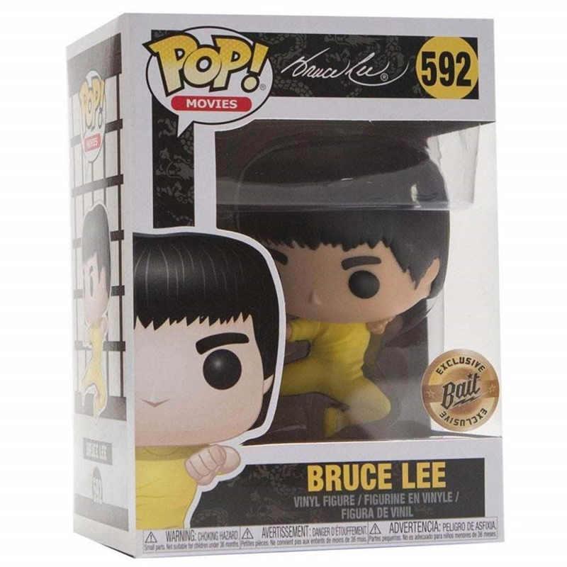 FUNKO POP Nova Chegada Bruce Lee 592 # Kung Fu Vinyl Action Figure Coleção Modelo brinquedos para As Crianças Presentes de Natal