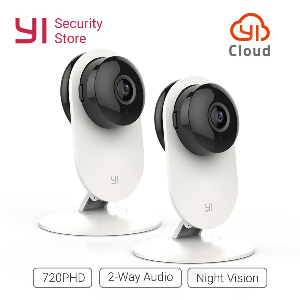 YI 720P Home Camera 2pcs Security Cam Night Vision WIFI Cam IP/Wireless Network Surveillance Owl Internation Version YI Cloud цена