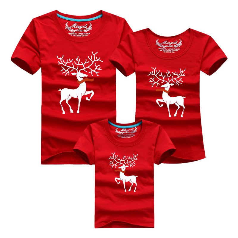 New 2017 Christmas Elk Family Matching Outfits T shirt The ...