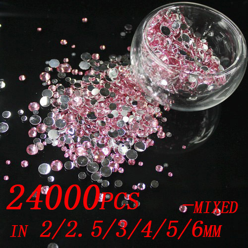 24000pcs Pink Color 2/2.5/3/4/5/6/mm Resin Rhinestones For Nail Art Flat Back Non Hotfix Stone 3D Nail Jewelry Charms Decoration агхора 2 кундалини 4 издание роберт свобода isbn 978 5 903851 83 6