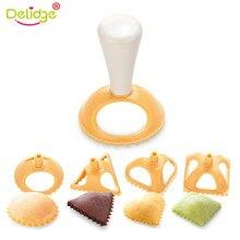 Delidge 4pcs/set Plastic Dumpling Molds 4 Shapes Press Tool Chinese jiaozi Kitchen Cooking Pastry Mold