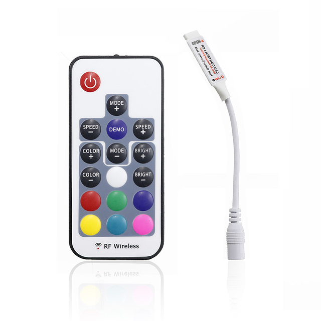 1pcs Mini 17 Keys Rf Wireless Controller Led Light Dimmer With 4pin Female For 3528 5050 Smd Rgb Strip 12a Dc5 24v Q