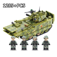 1285PCS Military Army Series Tank Building Block Brick German Soldier Compatible legoingly Educational Toy for children Boy Gift