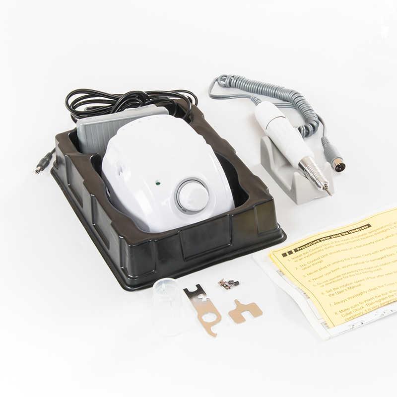STRONG 210 elektryczna wiertarka do paznokci maraton mikro silnik + SDE-H20N rękojeść zestaw Manicure Pedicure pilnik do paznokci Bit Nail Art Equipment