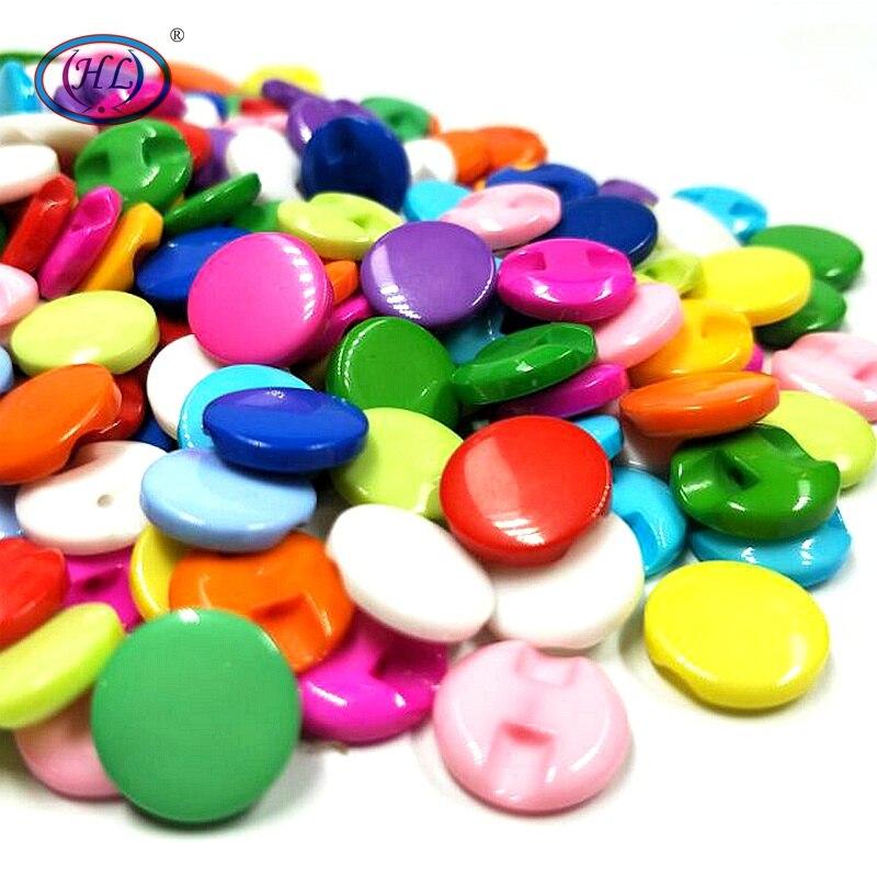 12MM Lots couleur mélange résine boutons chemise boutons bricolage vêtement couture accessoires 50 pièces/paquet