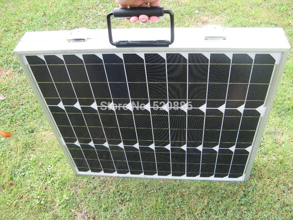 все цены на 2015 USA Stock 80w 12v mono  folding solar panel  for 12v battery , car, RV,camping,boat,home ,free shipping онлайн