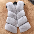 Plus size autumn and winter real fox fur vest natural fur vest women's design short outerwear waistcoat