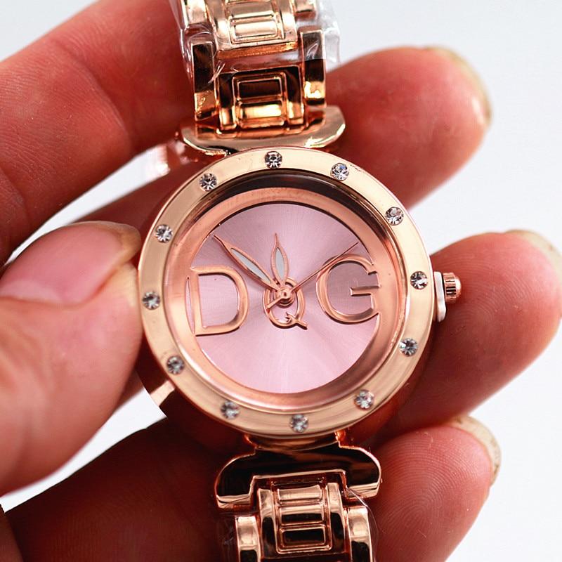 reloj hombre new casual relogios femininos watches women fashion luxury watch rhinestone wristwatches full steel gold Bear watch