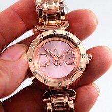 Reloj hombre nuevo casual relogios femininos relojes de lujo en moda mujer reloj de pulsera de diamantes de imitación Oso de oro reloj de acero completo