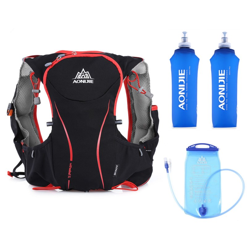AONIJIE 5L Running Backpack Outdoor Hydration Backpack Sport Bag Super Light Water Bag Running Vest For Cycling Climbing Camping