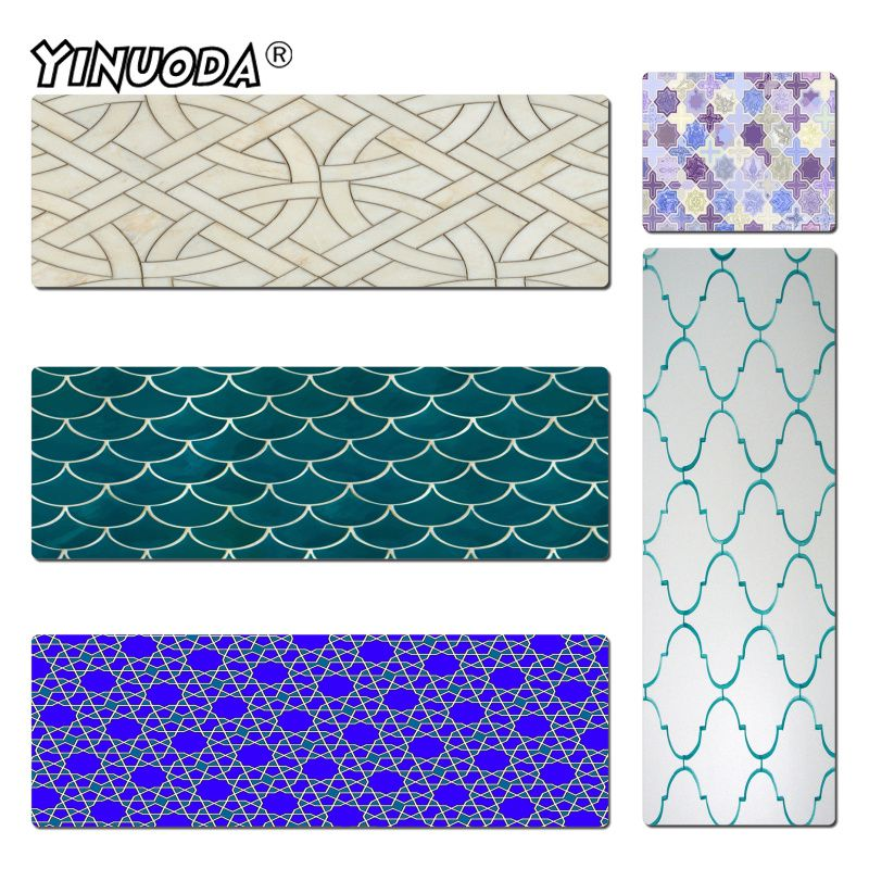 Yinuoda Cool New Moroccan Backgrounds Unique Desktop Pad Game Mousepad Size 300x600mm and 400x900mm