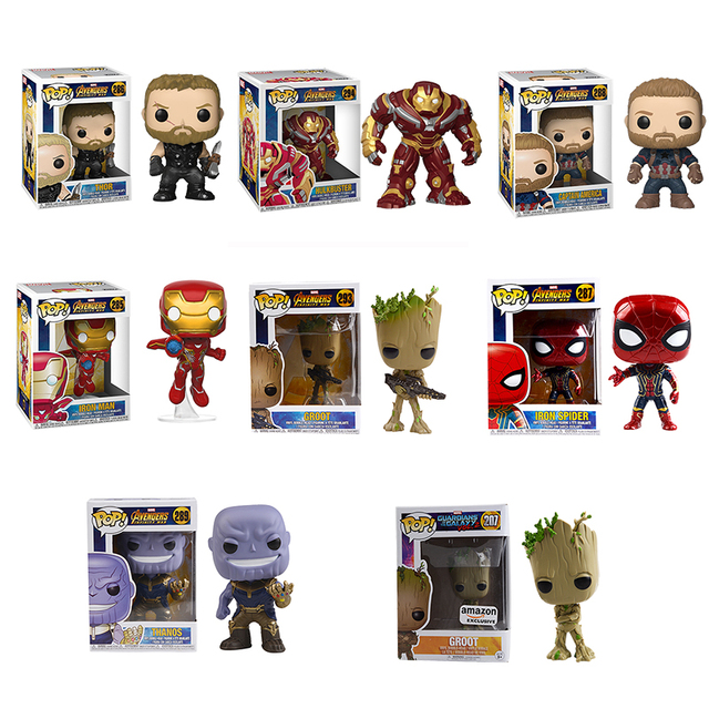 FUNKO POP The Avengers 3: Infinity War THANOS HULKBUST Super Hero Characters Model Vinyl Action & Toy Figures for Children gift