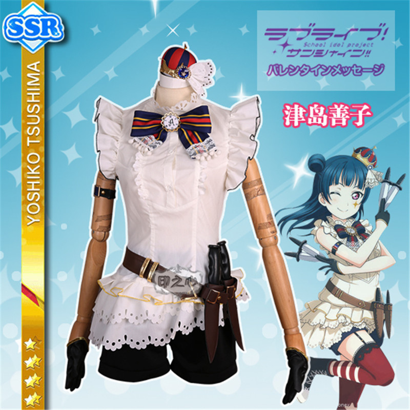 love live sunshine Circus Tsushima Yoshiko Unawakened Training Suit Cosplay Costumes O