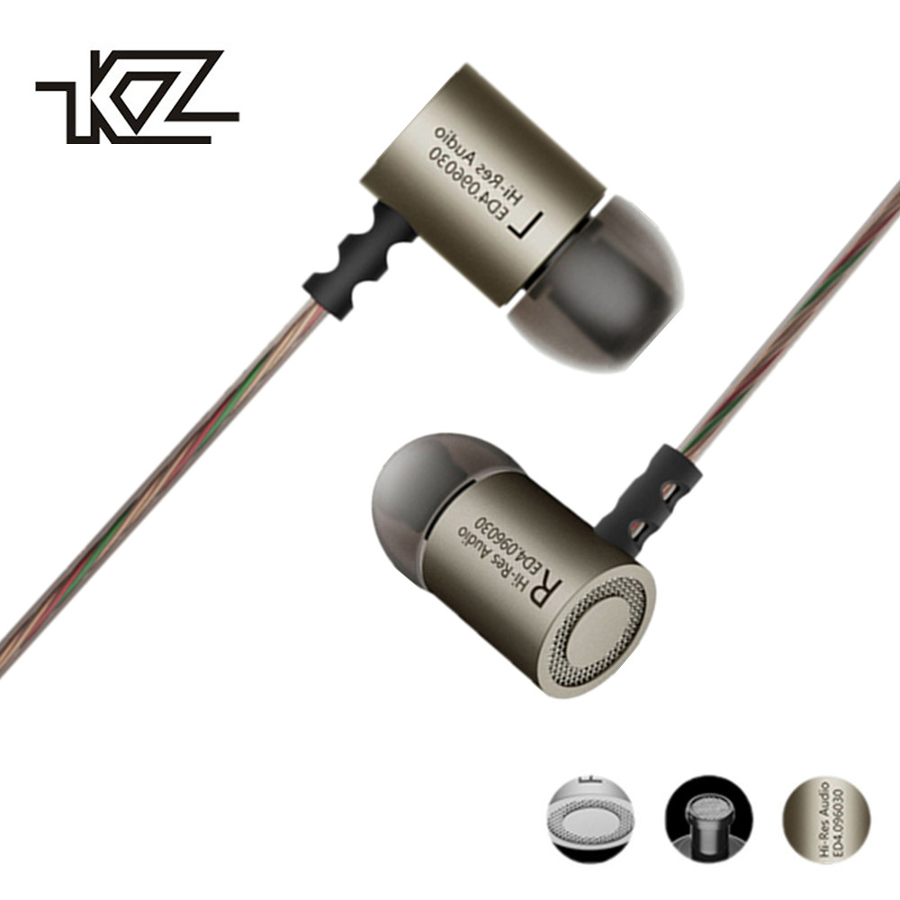 KZ ED4 Earphones DJ MP3 auriculares Metal Stereo Noise Isolating In-ear Earphone Music Auriculares fone de ouvido DJ audifonos earphones bass headset qkz dm2 phone headset metal auriculares ear music dj mp3 earphone headset hifi audifonos fone de ouvido