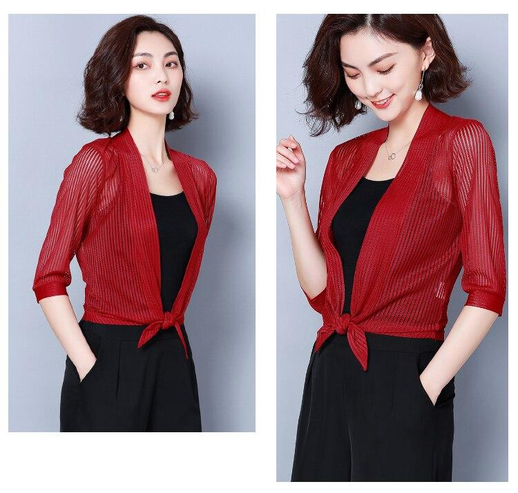 HTB1.VmoR4jaK1RjSZFAq6zdLFXaR Women coats 2019 fashion ladies coats shirts short coats Solid Three Quarter office lady Open Stitch coats women 3723 50
