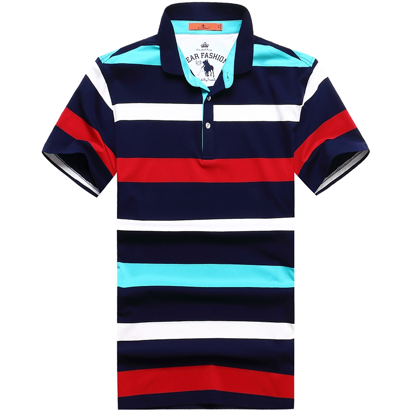 9XL 8XL 6XL High quality brand men polo shirt new summer casual striped cotton men's polo solid polo shirt polo ralp men camisa