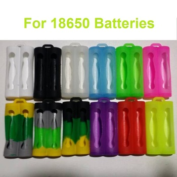 Free shipping avaiable silicone sleeve protective pouch for dual 18650 battery 3400mah 2600mah 3000mah 18650 rubber skin